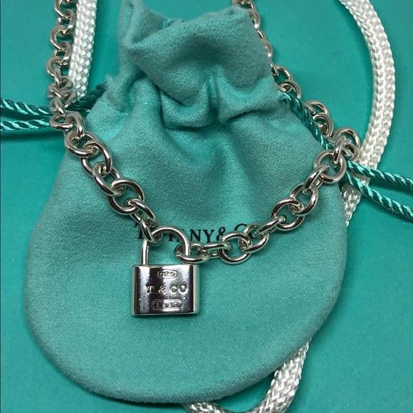 9c883c12a Tiffany 1837 Padlock Charm Chain Link Necklace. M_5c758ae0aa877081e94669bc